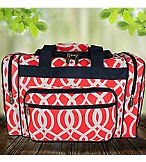 "17"" Coral Trellis Duffle Bag #BIQ417-CORAL"