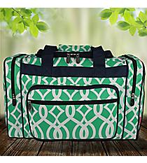 "17"" Mint Trellis Duffle Bag #BIQ417-MINT"