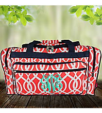 "23"" Coral Trellis Duffle Bag #BIQ423-CORAL"