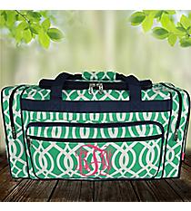 "23"" Mint Trellis Duffle Bag #BIQ423-MINT"