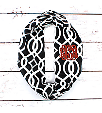 Black Trellis Infinity Scarf #BIQ589-BLACK