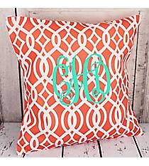 Coral Trellis Throw Pillow Slipcover #BIQ685-CORAL