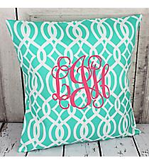Mint Trellis Throw Pillow Slipcover #BIQ685-MINT