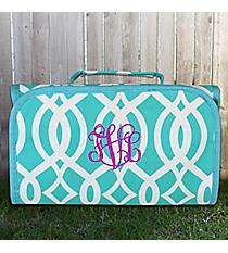 Aqua Trellis Roll Up Cosmetic Bag #BIQ729-AQUA