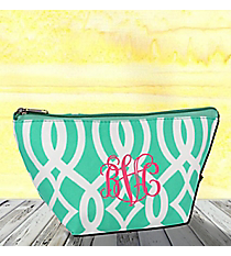 Mint Trellis Cosmetic Bag #BIQ820-MINT