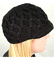 Black Knit Beanie #BN1981-BLACK