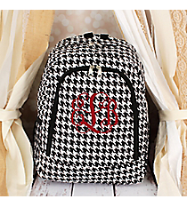 Houndstooth with Black Trim Backpack #BP5016-606-B/W