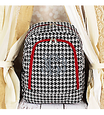 Houndstooth with Red Trim Backpack #BP5016-606-R