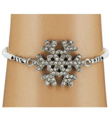 Snowflake Stretch Bracelet #AB6046-RHW