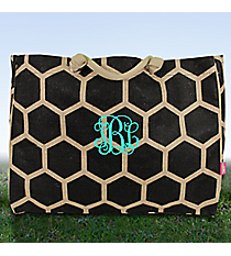 Large Black Honeycomb Juco Shoulder Tote #BUL634-BLACK
