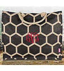 Black Honeycomb Juco Box Tote #BUL675-BLACK