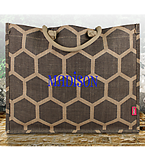 Gray Honeycomb Juco Box Tote #BUL675-GRAY