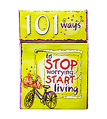 101 Ways to Stop Worrying & Start Living Promise Cards #BX003