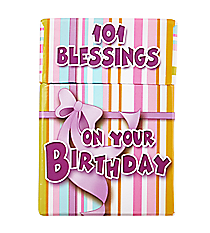 101 Blessings on your Birthday Promise Cards #BX035