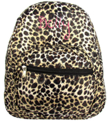 Leopard with Black Trim Small Backpack #SBP-2008