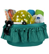 Turquoise Just Spice Ruffled Collapsible Market Basket #10238-TURQ