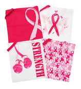 1 Pink Ribbon Tote Bag #14/1743-SHIPS ASSORTED