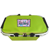 Lime Collapsible Insulated Market Basket with Lid #PT658-LIME
