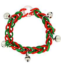 1 Red & Green Fun Loop Bracelet with Bells #13650372