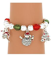 Christmas Charm Stretch Bracelet #AB6768-ASMX