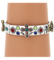 Tri-Tone and Multi-Color Western Stretch Bracelet #AB7138-B3TMX