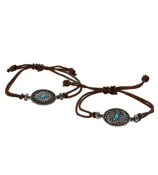 One Frontier Fashion Buckle Adjustable Leather Bracelet #WBUCK-BR-SHIPS ASSORTED
