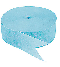 1 Roll Ice Blue Jumbo Streamers #C554
