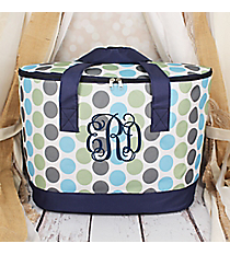 Tri-Colored Polka Dots Cooler Tote with Lid #LCB-1331-1