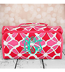 Petals in Pink Roll Up Cosmetic Bag #CB-1348-P