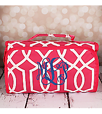 Pink Trellis Roll Up Cosmetic Bag #CB-1349-P
