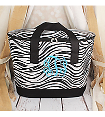 Zebra with Black Trim Cooler Tote with Lid #LCB-2006