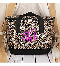 Leopard with Black Trim Cooler Tote with Lid #LCB-2008