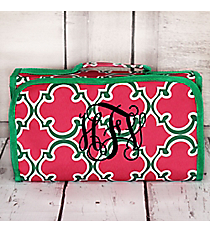 Pink and Green Moroccan Roll Up Cosmetic Bag #CB-708-Pcan Roll Up Cosmetic Bag #CB-708-BK