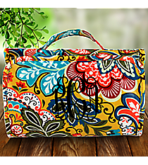 Autumn Leaves Paisley Laminated Roll Up Cosmetic Bag #CB0-3007
