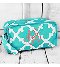 Turquoise and White Moroccan Travel Bag #CB10-11-TO