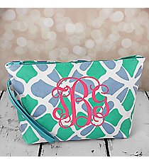 Petals in Blue Cosmetic Pouch #CB10-1348-BL