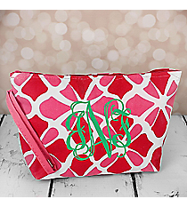 Petals in Pink Cosmetic Pouch #CB10-1348-P