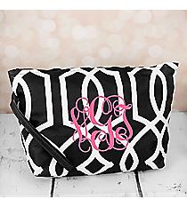 Black Trellis Cosmetic Pouch #CB10-1349-BK