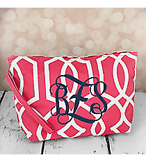 Pink Trellis Cosmetic Pouch #CB10-1349-P