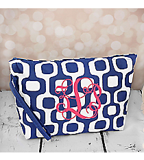 Blue Mod Squares Cosmetic Pouch #CB10-1350-BL