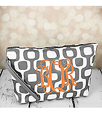 Gray Mod Squares Cosmetic Pouch #CB10-1350-GRAY