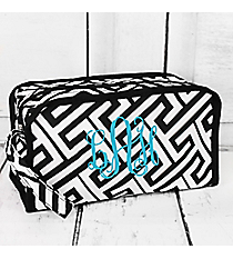 Black and White Greek Key Maze Travel Bag #CB10-21-BW