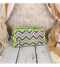 Green and Gray Chevron Travel Bag #CB12-1326