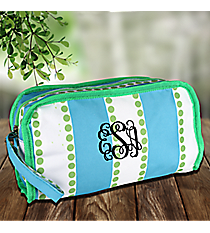 Blue and White Stripes with Green Dots Travel Bag #CB12-1328