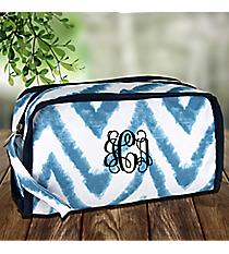 Blue Airbrushed Chevron Travel Bag #1330-1