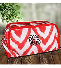 Black and White Red Airbrushed Chevron Travel Bag #1330-2Squares Travel Bag #CB12-1334-1