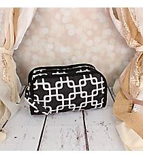 Black and White Overlapping Squares Travel Bag #CB12-1333