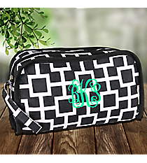 Black and White Connecting Squares Travel Bag #CB12-1334-1