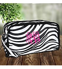 Zebra Travel Bag with Black Trim #CB12-2006