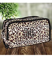 Leopard Travel Bag with Black Trim #CB12-2008